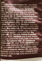 Callebaut hot chocolate dark callets - Ingrediënten
