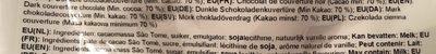 Fondant Superieur Origin Callets Saothom - Ingredients