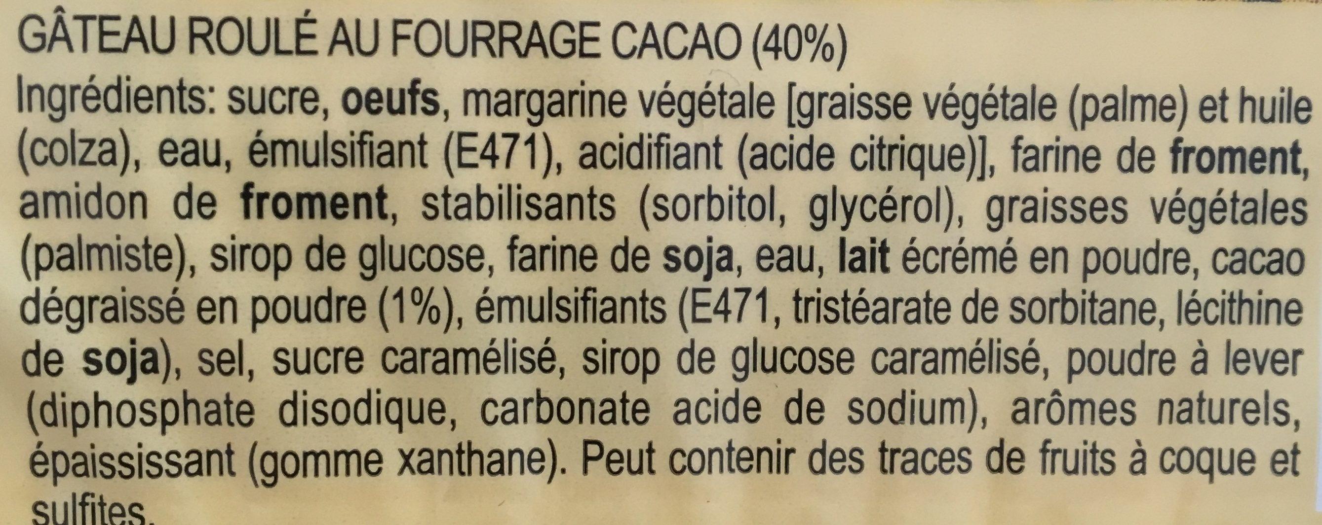 Tiger Roll, Kakao - Ingrédients - fr