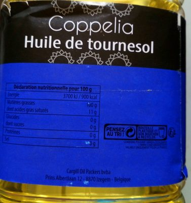 Huile de tournesol - Ingredients