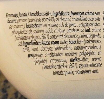Fromage fondu au Jambon - Ingredients - en