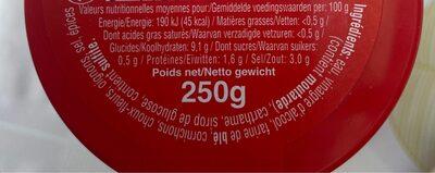 Piccalilli - Pickels - Valori nutrizionali - fr