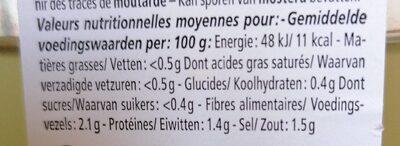 L'Étoile - Nutrition facts - fr