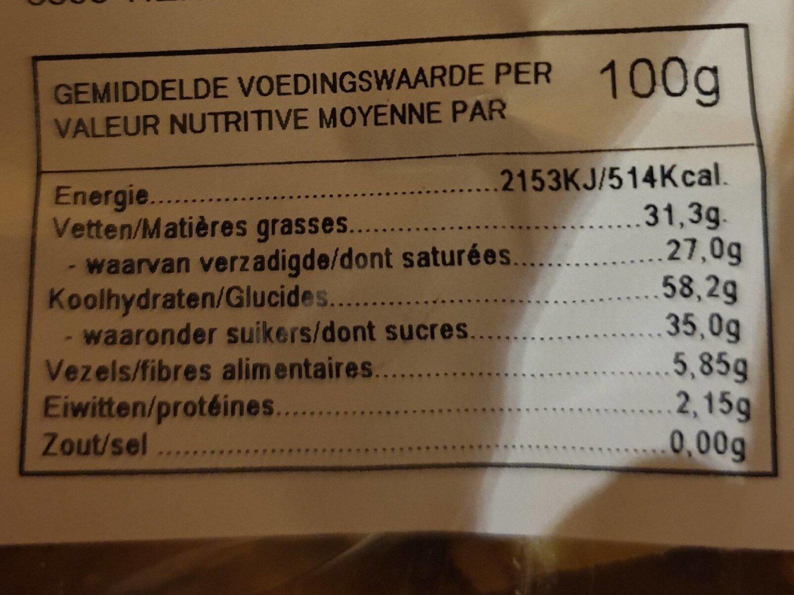 Banane chips - Nutrition facts - fr