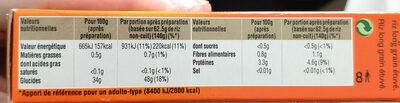 Riz cuisson rapide Uncle Ben's 500g - Informations nutritionnelles - fr