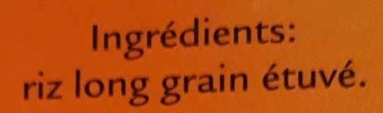 Riz Long Grain 10 minutes - Ingredients - fr