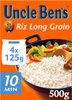 Riz cuisson rapide Uncle Ben's 4 x 125 g - Produit