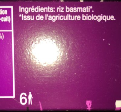 Riz Basmati - Ingrediënten