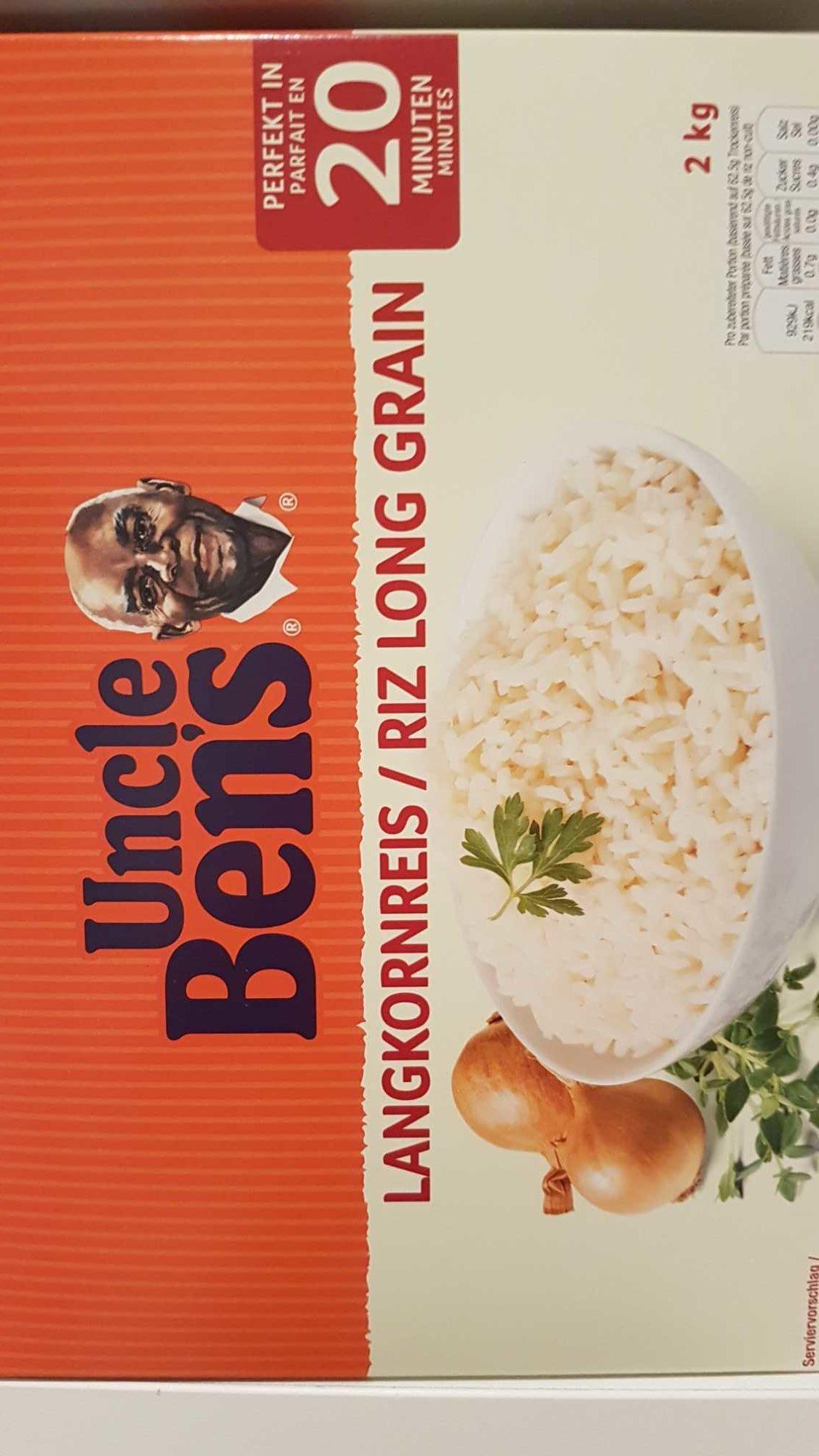 Uncle Ben's Long Grain Rice 2 kg - Produit - fr