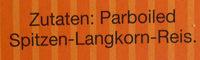 Original Langkorn Reis - Ingrédients - de