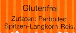 Kochbeutel Spitzen-Langkorn-Reis - Inhaltsstoffe