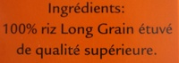 Kochbeutel Spitzen-Langkorn-Reis - Ingrédients