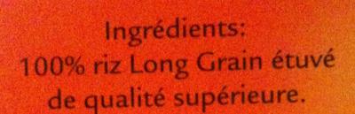Uncle Ben\'s - Riz Long Grain - Inhaltsstoffe