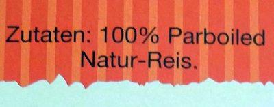 Kochbeutel Natur-Reis - Ingrediënten
