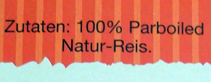 Kochbeutel Natur-Reis - Ingredients
