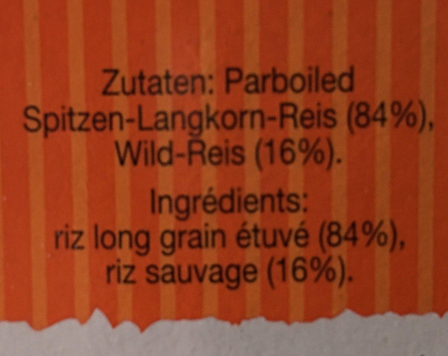 Reis, Wildreis Mix Kochbeutel - Ingredients - en