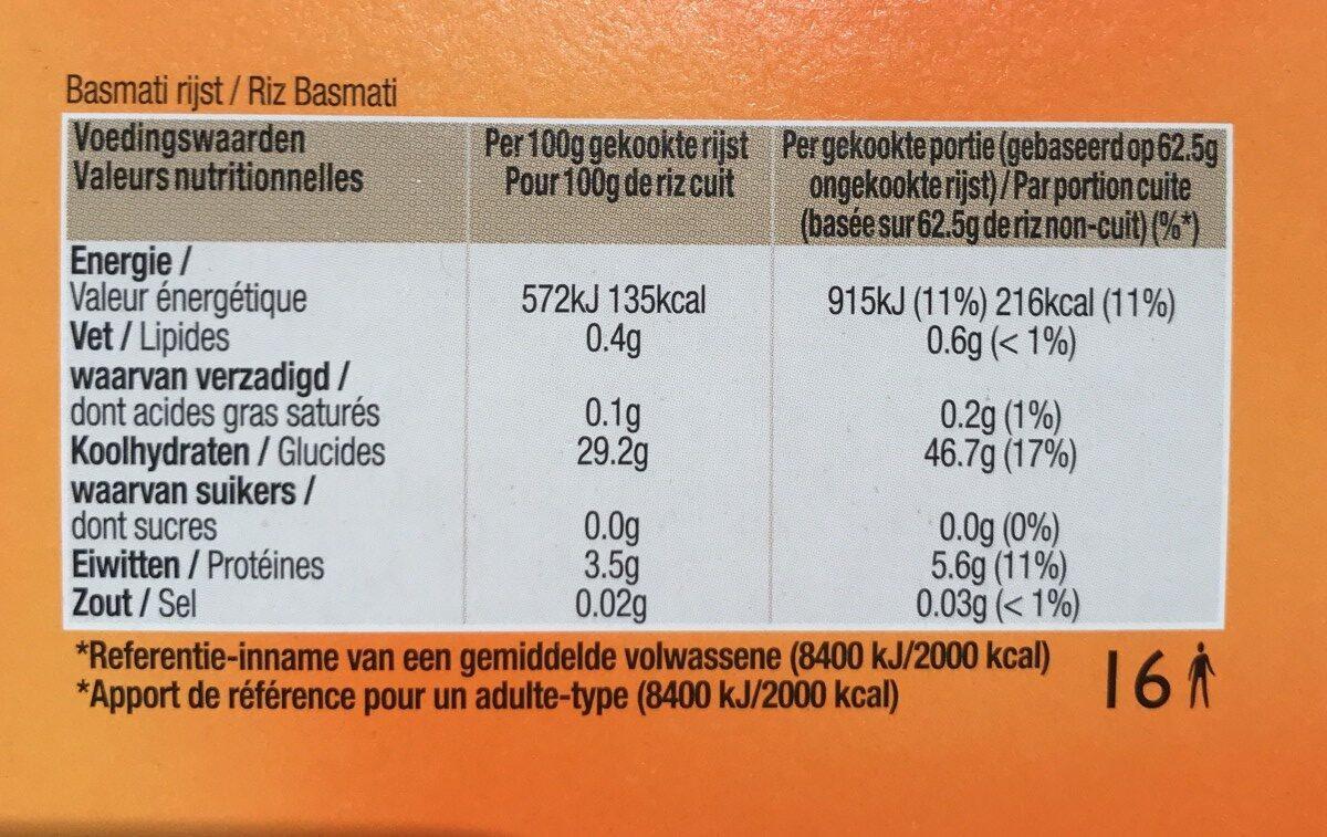 Basmati - Ingrediënten