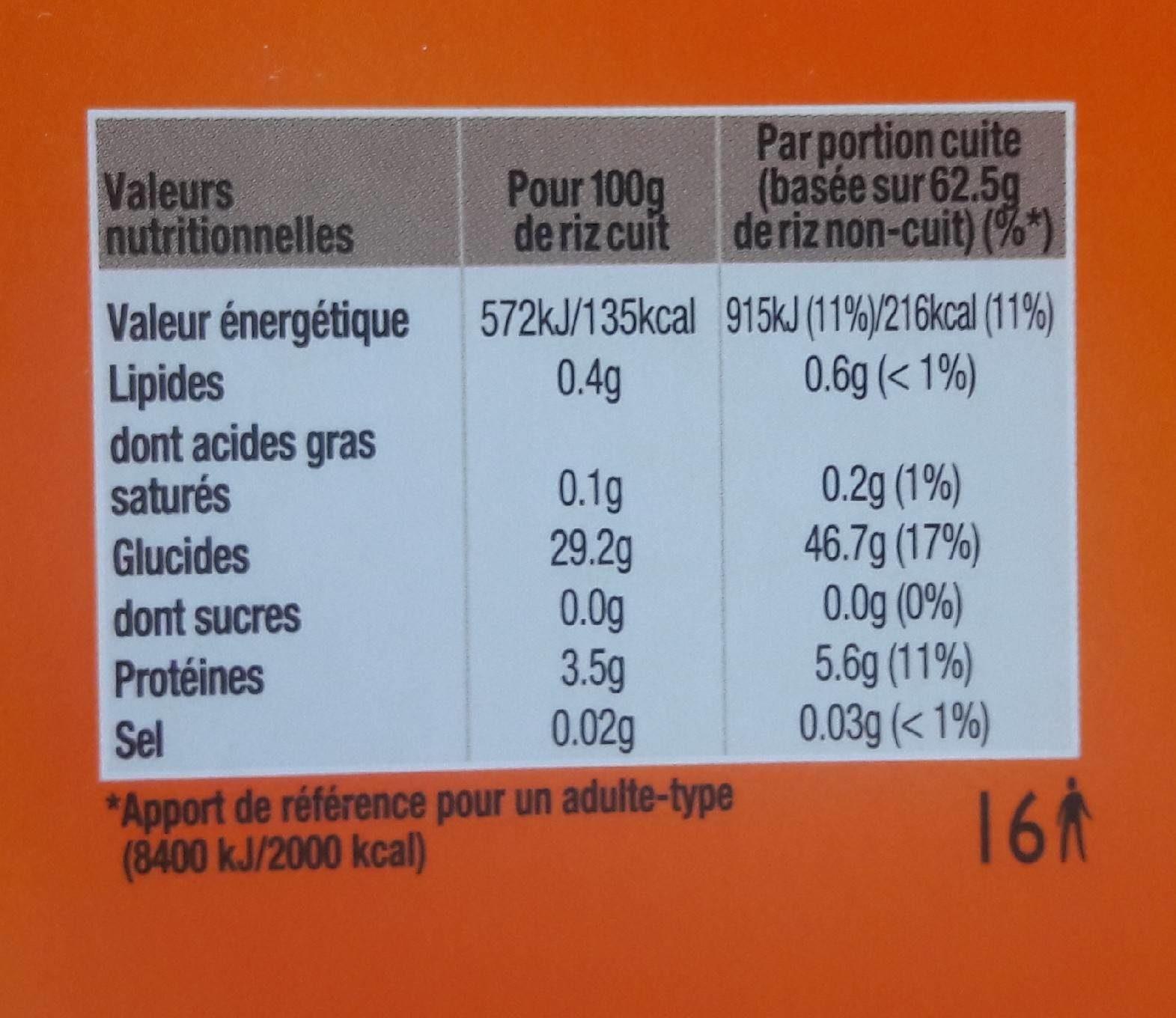 riz basmati uncle ben 39 s calories valeurs nutritionnelles et avis de consommation. Black Bedroom Furniture Sets. Home Design Ideas