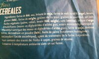 Pain gris multicéréales - Ingrediënten - fr