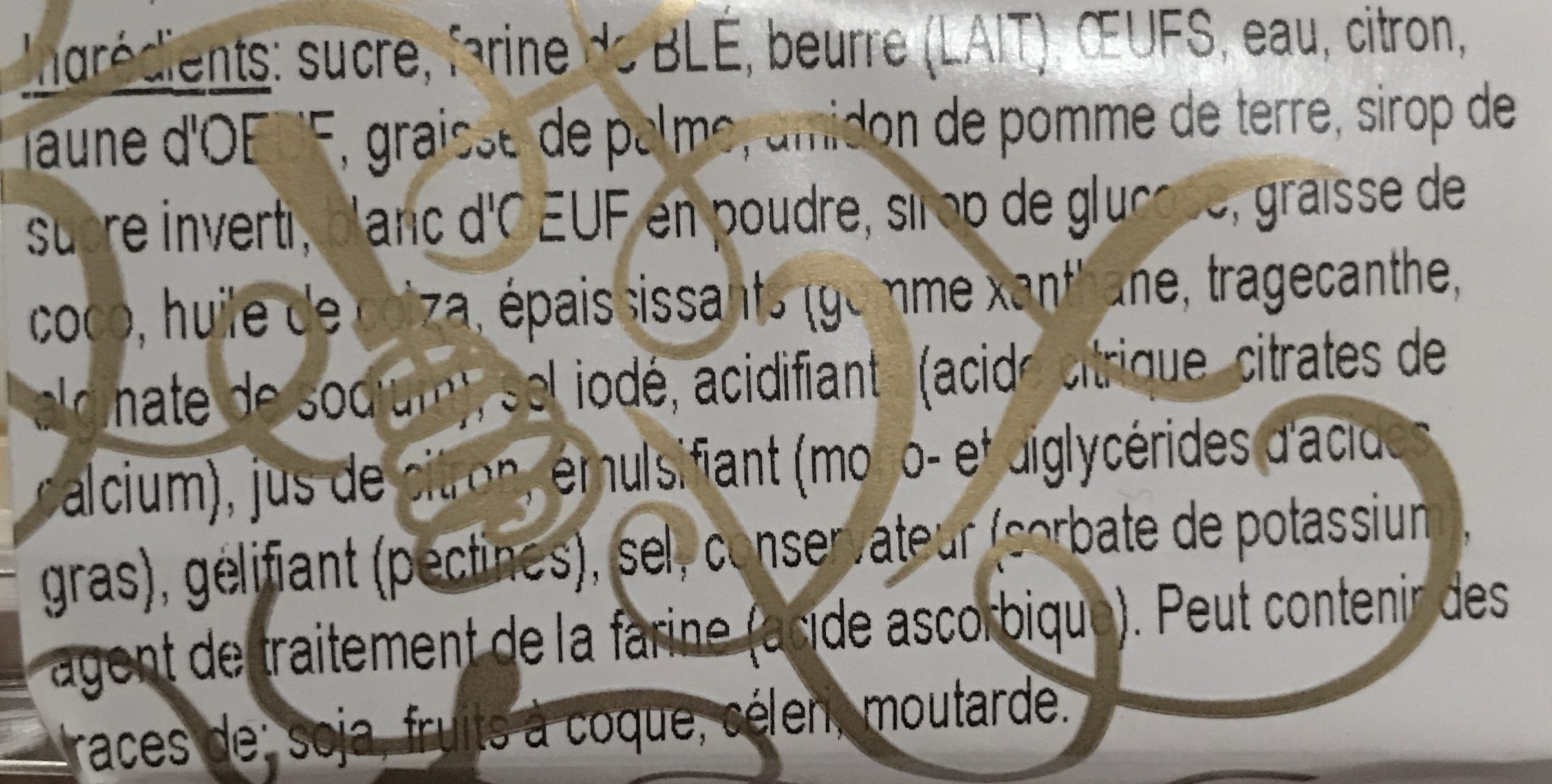 Croûte au Citron Meringué - Ingrediënten