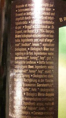 Dupont Biere De Miel Bio 750ML - Ingredients