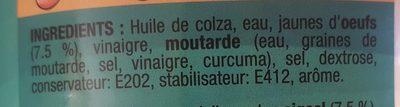 Mayonnaise Colona Seau - Ingrédients - fr