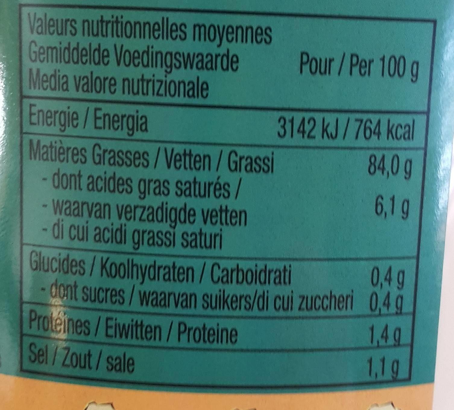Mayonnaise Colona Seau - Informations nutritionnelles - fr