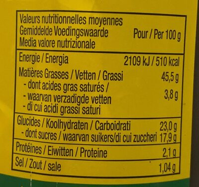 Sauce brazil - Nutrition facts - fr