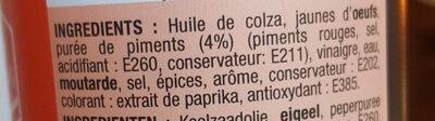 Sauce Samouraï - Ingredients - fr