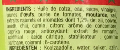 Sauce Marocaine - Ingredients - fr