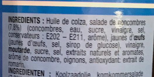 Sauce Fish o Fish - Ingrédients - fr