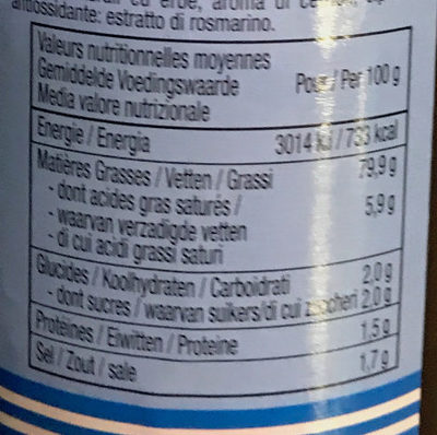Sauce Fish o Fish - Informations nutritionnelles - fr
