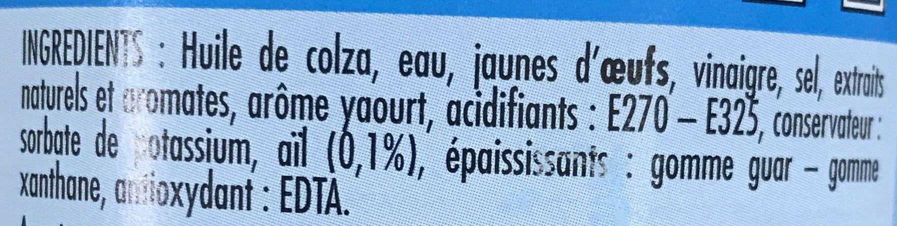 Sauce Pitta Kebab - Ingrédients - fr
