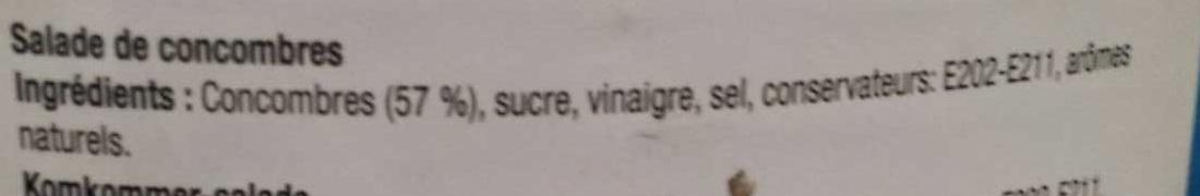 Salade de concombre - Ingredients - fr