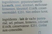 Jong Brugge Jeune - Ingredients - fr