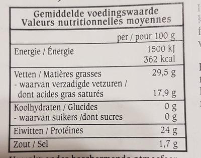 Jong Brugge Jeune - Nutrition facts - fr