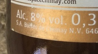 Chimay triple - Informations nutritionnelles