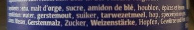 Chimay bleue Pères trappistes - Ingredients
