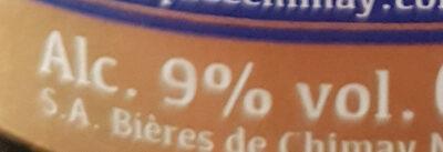 Chimay bleue Pères trappistes - Informations nutritionnelles - fr