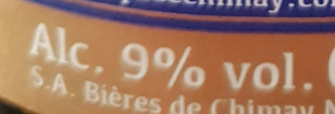 Chimay bleue Pères trappistes - Nutrition facts - fr
