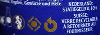 Chimay bleue Pères trappistes - Instruction de recyclage et/ou information d'emballage - fr