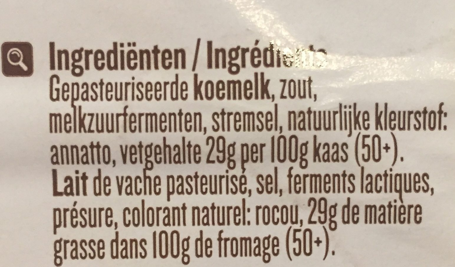 Passendale Classic 5TR. - Ingredients - nl