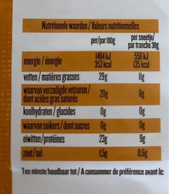 Passendale Classic 5TR. - Nutrition facts - nl