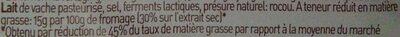 Passendale lightesse - Ingrediënten - fr