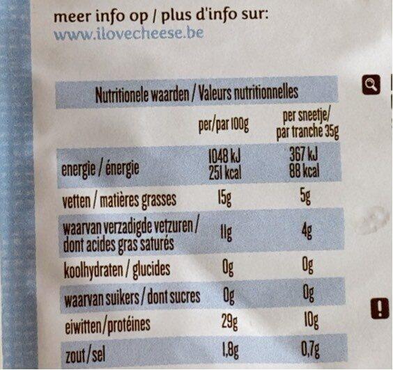 Passendale lightesse - Voedingswaarden - fr