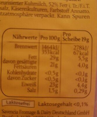 Saint Albray Klosterkäse Fein Würzig - Informations nutritionnelles - fr