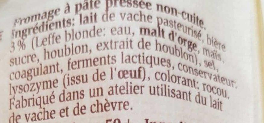 Pavé à la Leffe Blonde - Ingrédients - fr