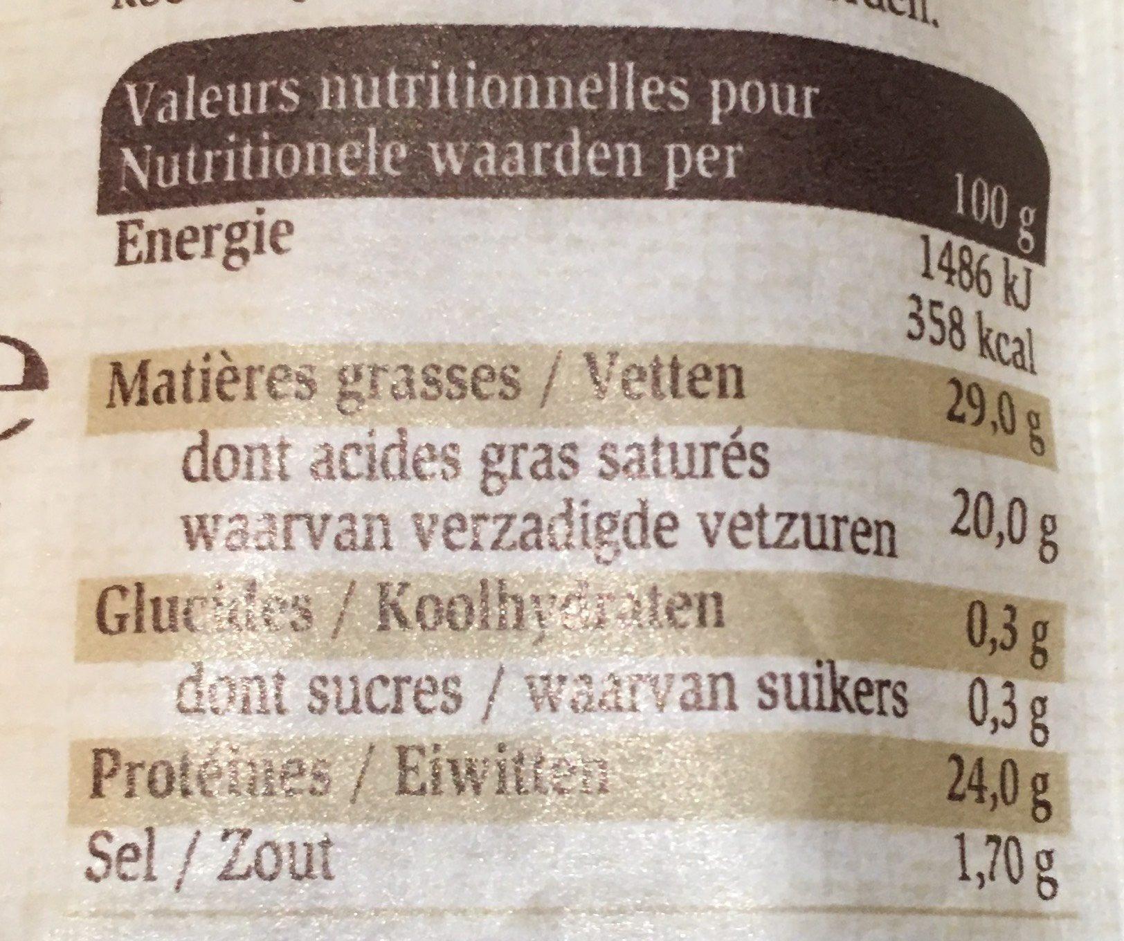 Pavé à la Leffe Blonde - Informations nutritionnelles - fr
