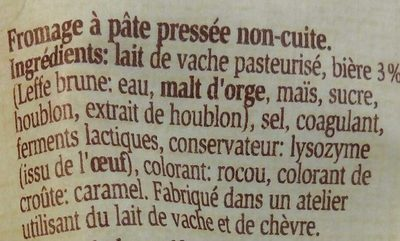 Pavé à la Leffe Brune - Ingrediënten - fr