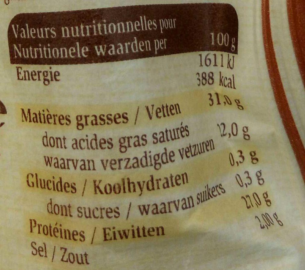 Pavé à la Leffe Brune - Voedingswaarden - fr